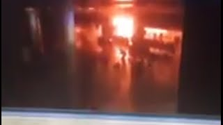 GRAPHIC: Moment blast goes off at Ataturk airport in Istanbul (CCTV footage)