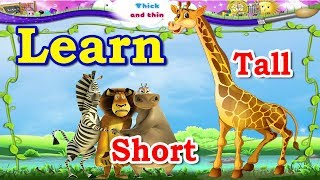Learn to read Short and Tall Shapes with Sounds for Children or Small Kids || KidZone era ||