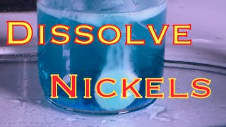How to Dissolve US Nickels (H2SO4 method)