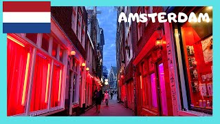 AMSTERDAM:The famous RED LIGHT DISTRICT (THE NETHERLANDS/HOLLAND)