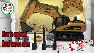 RC EXCAVATOR || HOW TO UPGRADE METALS SERVOS ARMS || building || creative