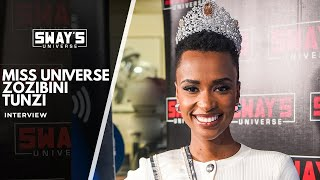 Miss Universe Zozibini Tunzi Talks About What It Means For Girls to Be Leaders   SWAY'S UNIVERSE