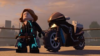 LEGO Marvel's Avengers - Black Widow & Her Vehicle (Motorcycle) | Free Roam Gameplay  (HD) [1080p]