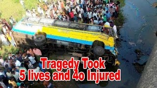 5 killed, 40 injured in bus mishap : Newspointtv