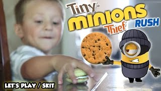 My MINION is a TINY THIEF!  (FGTEEV GAMEPLAY / SKIT w/ Despicable Me Minions Rush)