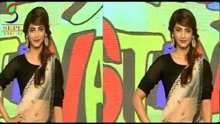 Shruti Haasan Showing Hot Assest In Transparent Saree