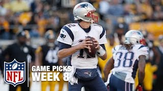 Game Picks in 60 Seconds (Week 8) ⏱🏈  | NFL NOW