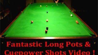 Snooker Exhibition Shots Long Potting & Screw Shots Cuepower, Mad Potting & More ! 2015