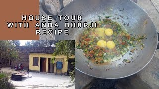 VILLAGE STYLE EGG FRY COOKING   INDIAN VILLAGE HOUSE TOUR 2017 VLOG IN HINDI