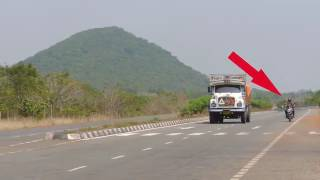 GHOST caught on morning at NH 10 highway full hd