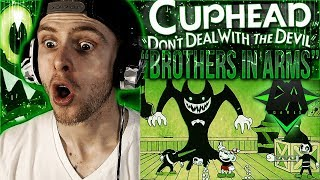"Vapor Reacts #582 | NEW CUPHEAD CROSSOVER SONG LYRIC VIDEO ""Brothers In Arms"" by DAGames REACTION!!"