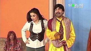 Best of Nida Choudhary and Sajan Abbas New Pakistani Stage Drama Full Comedy Funny Clip