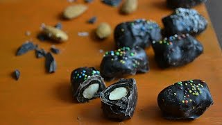 Dates Almond chocolate a unique homemade chocolate recipe