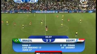 افضل 10 دقائق فى مبارة مصر والبرازيل.
