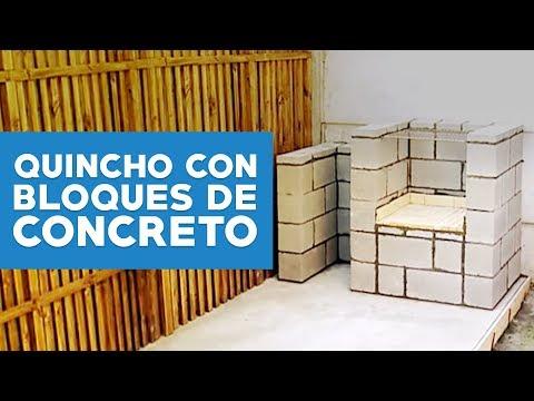 ¿Cómo hacer un quincho con bloques de concreto