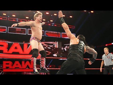 watch Roman Reigns vs. Kevin Owens & Chris Jericho - United States Title Handicap Match: Raw, Jan. 9, 2017