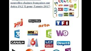 Toutes les fréquences des chaînes françaises sur astra 2017