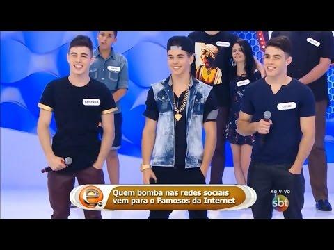 Brothers Rocha e MC Biel dançam juntos no Programa da Eliana