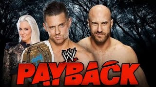 The Miz vs Cesaro Championship. WWE Payback 2016. Full Match HD