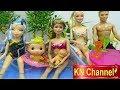 Download Video Download Đồ chơi trẻ em HỒ BƠI BÚP BÊ DẠY BÀ PHÙ THỦY MỘT BÀI HỌC Pool Party for doll toy water 3GP MP4 FLV
