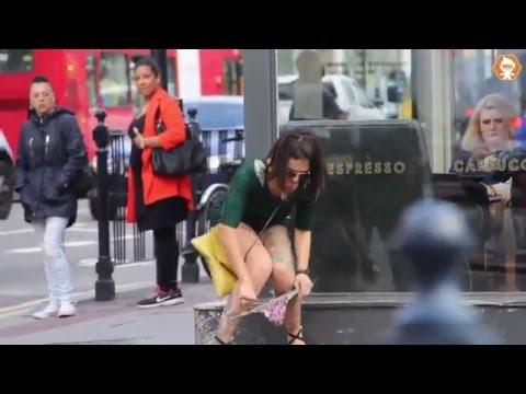 Woman Does Poo Poo In Public Prank