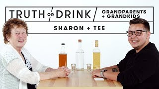 Grandparents & Grandkids Play Truth or Drink (Sharon & Tee)   Truth or Drink   Cut