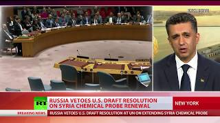 Russia vetoes US draft resolution on Syria chemical probe renewal