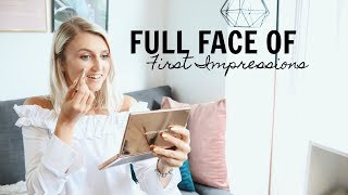 FULL FACE OF FIRST IMPRESSIONS- CRUELTY FREE BEAUTY BRAND Nude By Nature // ad