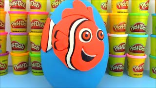 Finding Dory Movie Nemo Huge Surprise Egg Toy Review