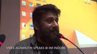 Vivek Agnihotri speaks at IIM Indore
