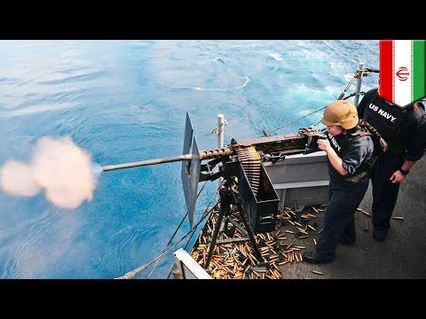 watch USA vs Iran: U.S. Navy ship fires warning shots at Iranian boat in tense Persian Gulf - TomoNews