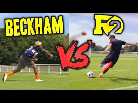 ODELL BECKHAM VS F2   EPIC BATTLE - Football VS Football