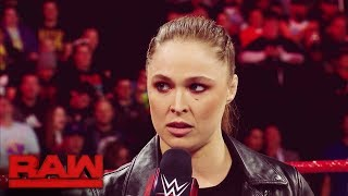 Ronda Rousey's Road to WrestleMania: Raw, March 12, 2018