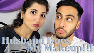 Challenge   Husband Does My Makeup   Fictionally Flawless