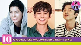 10 Popular actors who have already completed their military service