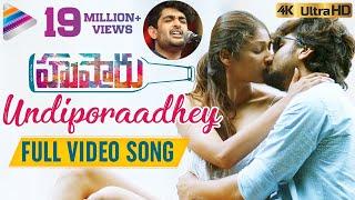 Undiporaadhey Full Video Song 4K | Husharu Latest Telugu Movie Songs | Sid Sriram | Telugu FilmNagar