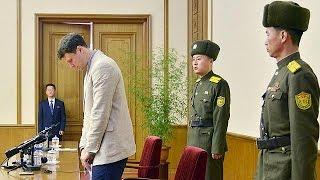 Amerikalı öğrenci Kuzey Kore'den ağlayarak af diledi