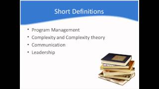 Successful Program Management: Complexity Theory, Communication, and Leadership
