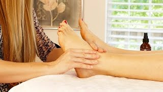 Ultra Relaxing Foot & Leg Massage Tutorial by Meera, How to Massage, ASMR Soft Spoken with Music