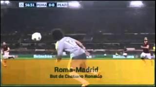 But de Cristiano Ronaldo face à la Roma (17/2/2016)