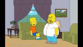 Bart simpson's punishment day.