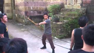 Juan Dela Cruz fight scene rehearsal