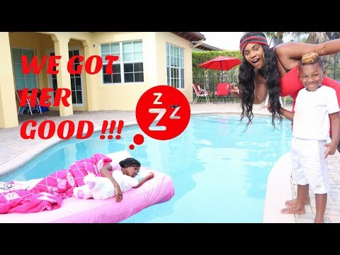 Xxx Mp4 Yaya Wakes Up In The Swimming Pool Prank 3gp Sex