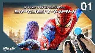 The Amazing Spider-Man PS Move Walkthrough - Part 1 [Chapter 1] Oscorp Is Your Friend