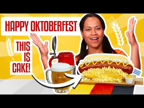 How To Make an Oktoberfest SAUSAGE ON A BUN out of CAKE Yolanda Gampp How To Cake It