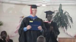 Kendall Receives His Diploma