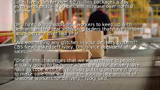 Delivery companies on overdrive this holiday season