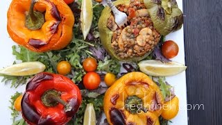 Lentil Stuffed Peppers Recipe - Heghineh Cooking Show
