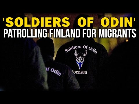SOLDIERS OF ODIN PATROLLING FINLAND FOR MIGRANTS