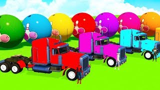 LEARN COLORS w SUPERHEROES TRUCK & Planes Spiderman Cartoon for kids and Cars for Babies